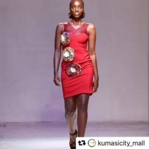 Obaasima Wax Design Dress