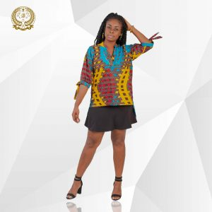 Ankara lace sleeves top