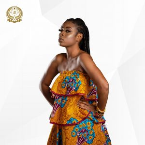 Ankara Peplum Dress