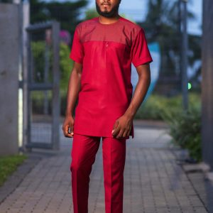 Akompreko Red-wine Kaftan