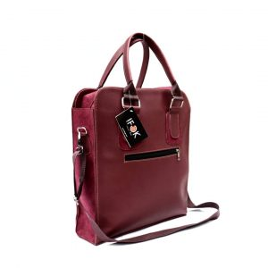 Burgundy Mens leather bag