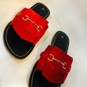 Asaase Red Slippers