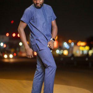 Heavy Blue suit Kaftan