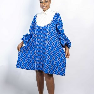 Blue Kente  Dress