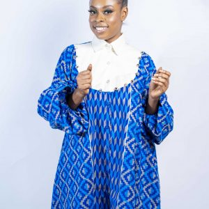 Blue Kente  Dress