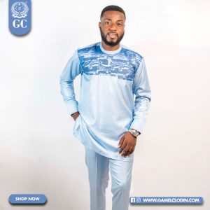 Alpha Sea blue Kaftan