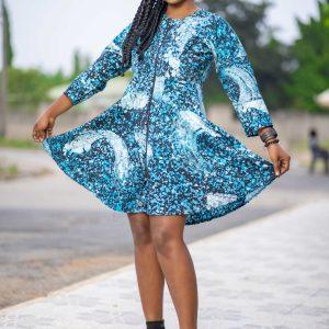 Sky Blue Batik Dress